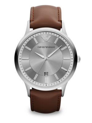 Polished Stainless Steel Watch