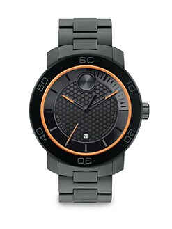 Movado - Large Bold Watch/Gray and Orange