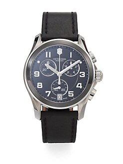 Victorinox Swiss Army - Leather Chronograph Watch