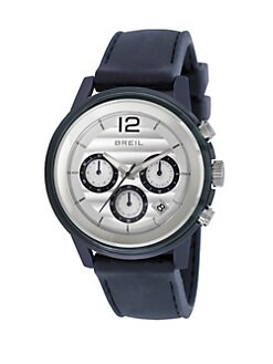 Breil - Stainless Steel Chronograph Watch/Blue