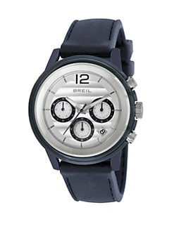 Breil - Stainless Steel Chronograph Watch/Blue