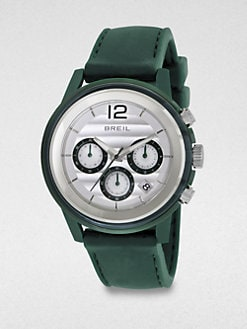 Breil - Stainless Steel Chronograph Watch/Green