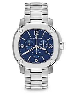 Burberry Britain - Octagonal Stainless Steel Watch