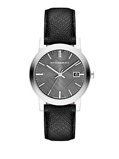 Burberry - Checked Stainless Steel Watch