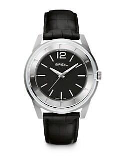 Breil - Stainless Steel Slim-Strap Watch