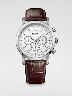 BOSS Black - Ultra Slim Round Chronograph Watch