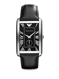 Emporio Armani - Stainless Steel Rectangular Watch