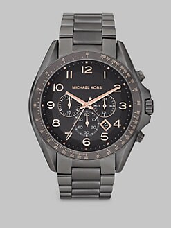 Michael Kors - Gunmetal Stainless Steel Chronograph Watch