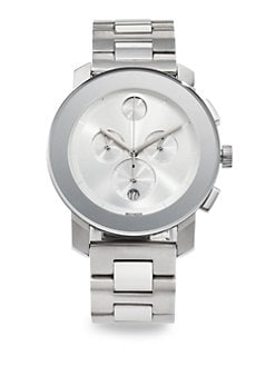 Movado - Bold Stainless Steel Chronograph Watch