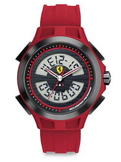 Scuderia Ferrari - Lap Time Stainless Steel Watch