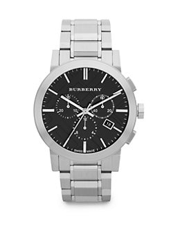 Burberry - Brushed Stainless Steel Chronograph Watch