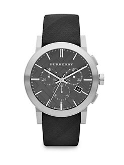 Burberry - Check Strap Chronograph Watch