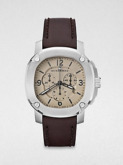 Burberry Britain - Octagonal Stainless Steel Chronograph Watch