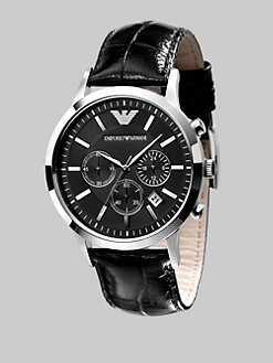 Emporio Armani - Slim Stainless Steel Chronograph Watch