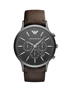 Emporio Armani - Leather Chronograph Watch