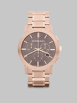 Burberry - Check Stamped Chronograph  Watch