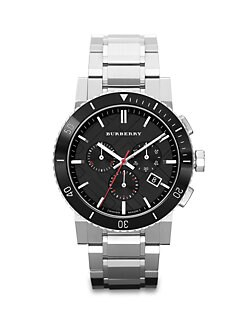 Burberry - Chronograph Check Link Watch