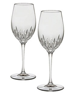 Waterford - Lismore Essence Crystal White Wine Glass/Set of 2