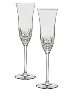 Waterford - Lismore Essence Crystal Champagne Flute/Set of 2