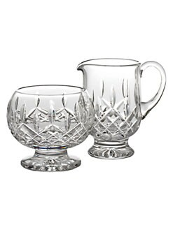Waterford - Lismore Crystal Sugar and Creamer Set