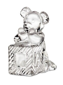 Waterford - Crystal Teddy Bear & Baby Block