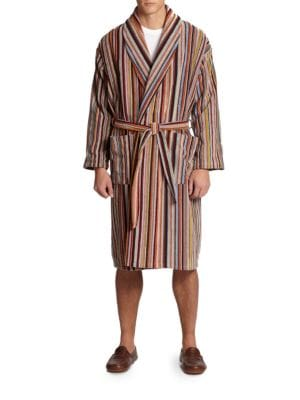 Multi-Striped Robe
