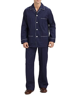 Derek Rose - Woven Piped Pajama Set