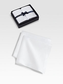 Derek Rose - Handkerchief Two-Pack/White Stag Jacquard
