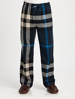 Burberry - Checked Cotton Lounge Trousers