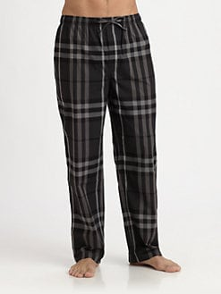 Burberry - Check-Print Pajama Pants