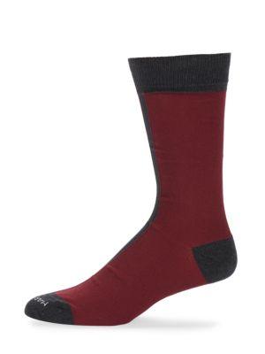 Colorblocked Cotton-Blend Socks