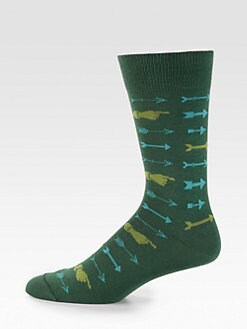 David Hart & Co. - Cotton-Blend Arrow Socks