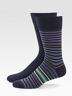 Boss Orange - Striped Dress Socks, 2-Pack
