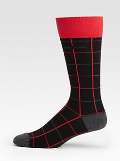 BOSS Black - Line Print Socks