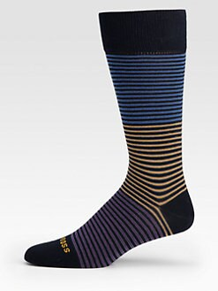 BOSS Black - Multicolored Cotton-Blend Socks