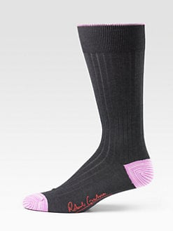 Robert Graham - Drop-Stitch Dress Socks/Ribbed