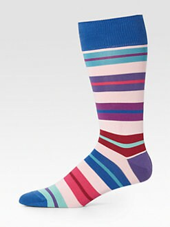Paul Smith - Neon Block Stripe Socks