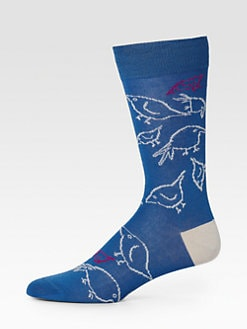 Paul Smith - Printed Cotton-Blend Socks