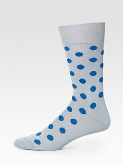 Paul Smith - Dot Print Cotton-Blend Socks