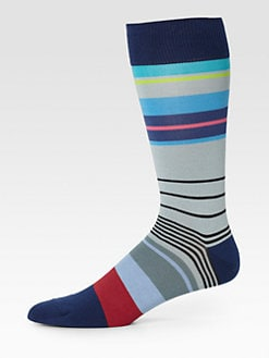 Paul Smith - Striped Cotton-Blend Socks