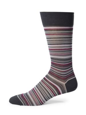 Striped Pima Cotton-Blend Socks