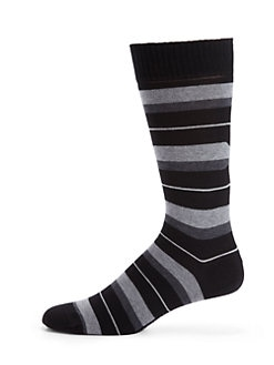 Marcoliani - Mixed Stripe Pima Cotton Socks