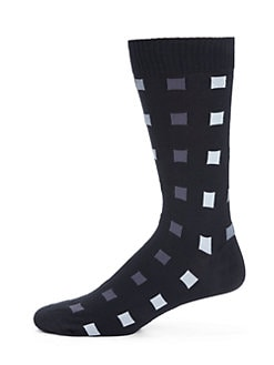 Marcoliani - Crazy Square Pima Cotton Socks