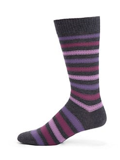 Marcoliani - Folk Stripe Pima Cotton Socks