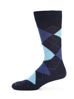 Marcoliani - Argyle Print Wool Blend Socks