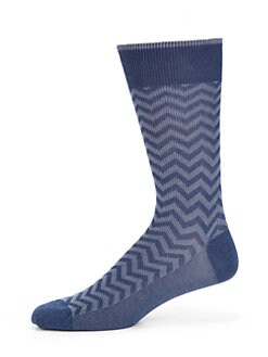 Marcoliani - Herringbone Pima Cotton Socks