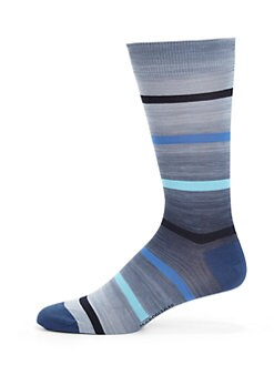 Marcoliani - Vintage Stripes Pima Cotton Socks