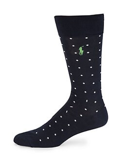 Polo Ralph Lauren - Cotton-Blend Dress Socks