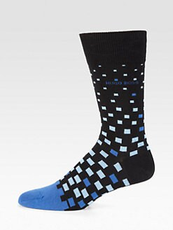 BOSS Black - Printed Stretch-Cotton Socks