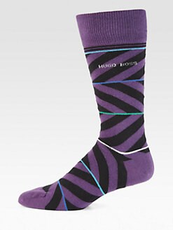 BOSS Black - Printed Cotton-Blend Socks